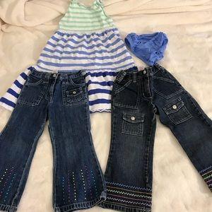 Bundle of 3 dress jeans pants Gymboree girls lot